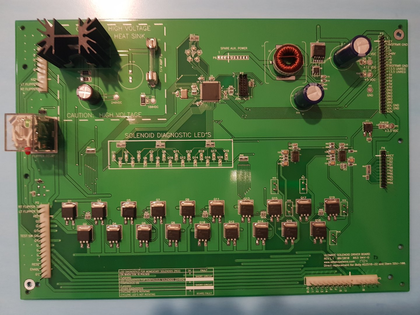 Solenoid Driver Board Fr Bally Ee Je Flipp Completed Circuit